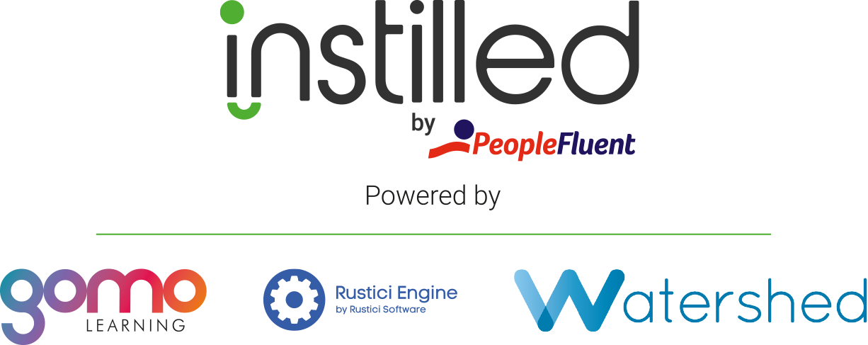 gomo, Rustici, Watershed and Instilled by PeopleFluent logos
